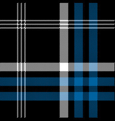 black check pixel square fabric texture seamless vector image vector image
