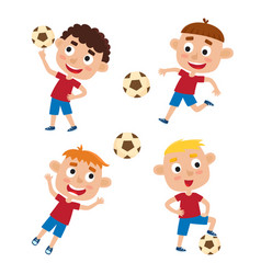 boys in shirt and short vector image