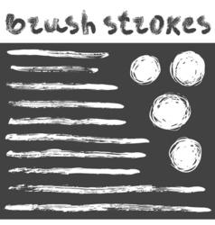BrushStrokes3 vector image vector image