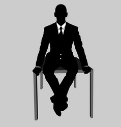 business man black and white 17 vector image