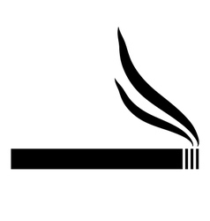 Cigarette icon vector image