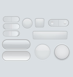 collection of white plastic interface buttons vector image vector image