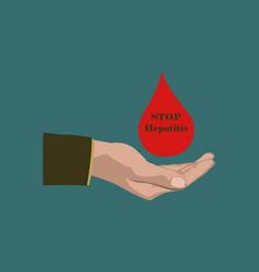 Flat icon on theme world hepatitis day drop of vector