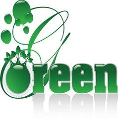 GREEN A vector image