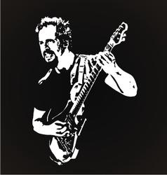 Guitarist stencil art vector