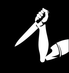 Man holding a knife vector