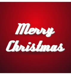 Merry christmas holidays modern paper like text vector