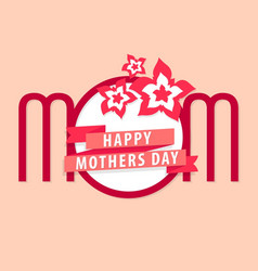Moms day card vector