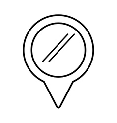 Pointer location pin isolated icon vector