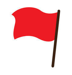 red flag object icon vector image