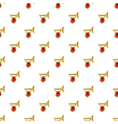 Trumpet with flag pattern cartoon style vector image vector image