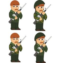 Set of soldiers vector