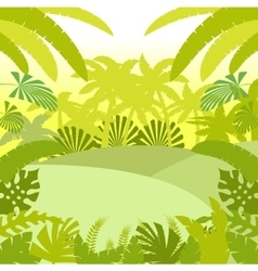 Jungle Flat Background2 vector image