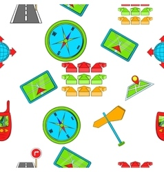 Search way pattern cartoon style vector