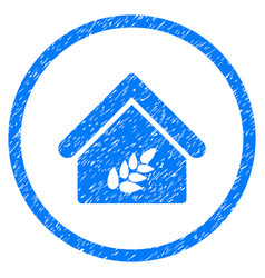 Grain warehouse rounded grainy icon vector