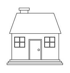 Family house with chimney icon image vector