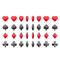 3d symbols poker cards animation game vector