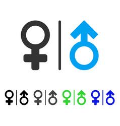 Wc gender symbols flat icon vector