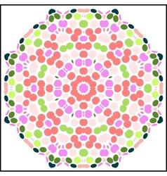 circular colorful pattern vector image