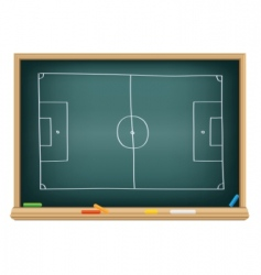 soccer field on the blackboard vector image