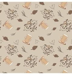 Vintage Coffee Pattern vector image