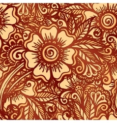 Hand-drawn floral seamless pattern in indian vector