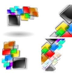Glass abstracts vector