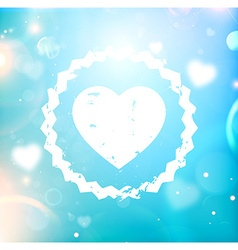 Romantic love heart vector