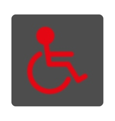 Handicapped rounded square button vector