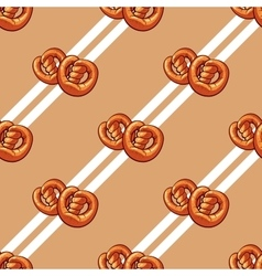 Bagels seamless pattern vector