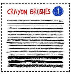 Set of oil pastel brush strokes vector