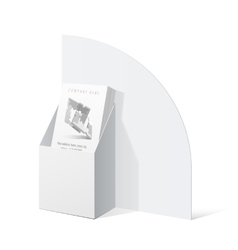 White cardboard holder for brochures and flyers vector