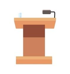 Tribune for speech icon cartoon style vector image