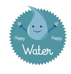 A happy drop of water and some text vector