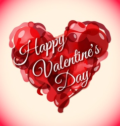 abstract red heart valentines day background vector image