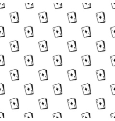 Ace of diamonds pattern simple style vector