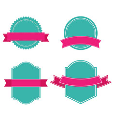 banner set of ribbon image vector image vector image