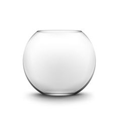 Black transparent smooth empty fishbowl aquarium vector