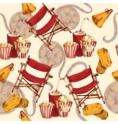 Cinema seamless background vector image
