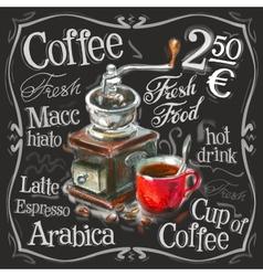 coffee espresso logo design template vector image