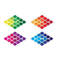 Colorful logo design vector