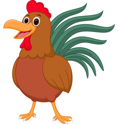 cute chicken cartoon vector image vector image