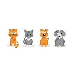 Dogs and cats vector image vector image