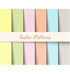 easter patterns vector image