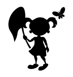 Girl with butterfly vector
