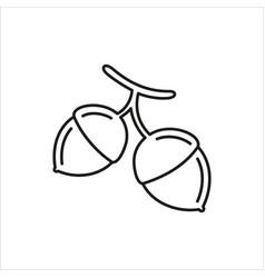 Hazelnut simple icon on white background vector