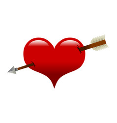 Heart arrow romantic love graphic vector