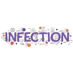 Infection background with icons and vector