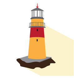 Isolated lighthouse icon vector