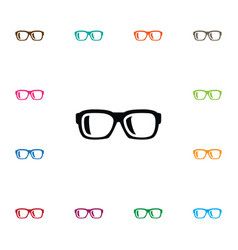 Isolated nerd icon specs element can be vector